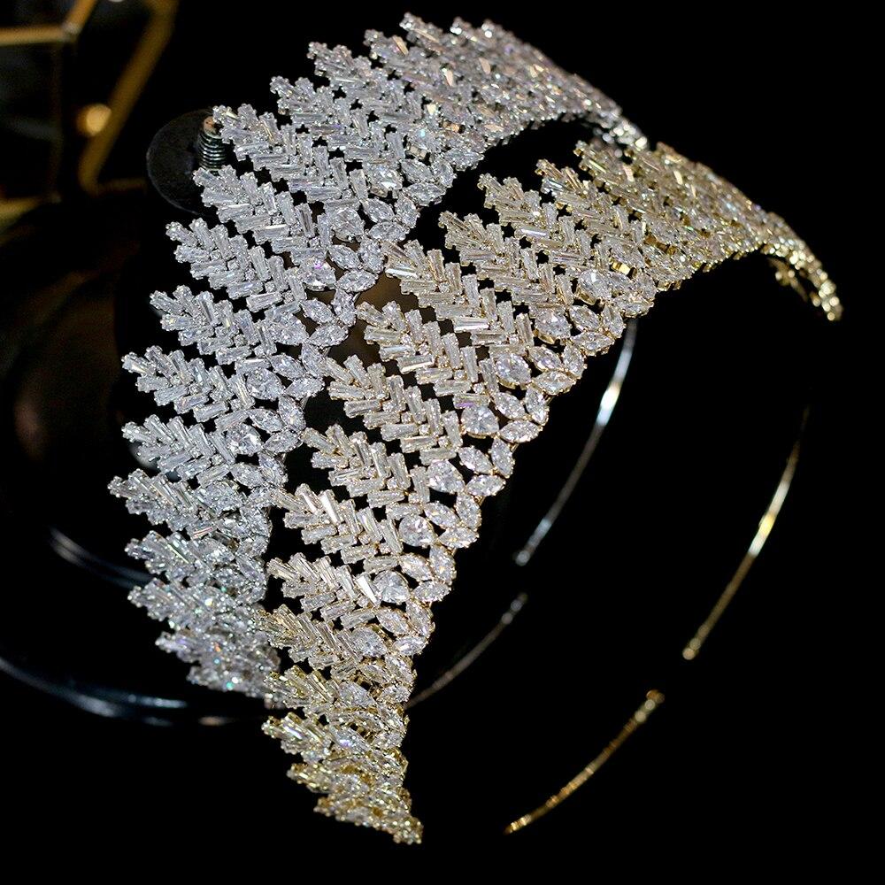 ASNORACubic zirconia bridal wedding tiara crown headband ladies party jewelry accessories-in Hair Jewelry from Jewelry & Accessories    1