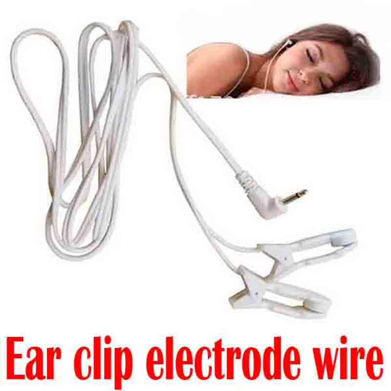 3.5mm tens ems Massage Ear clip electrode connecting lead wire for Sleep insomnia acupuncture therapy machine slimming massager