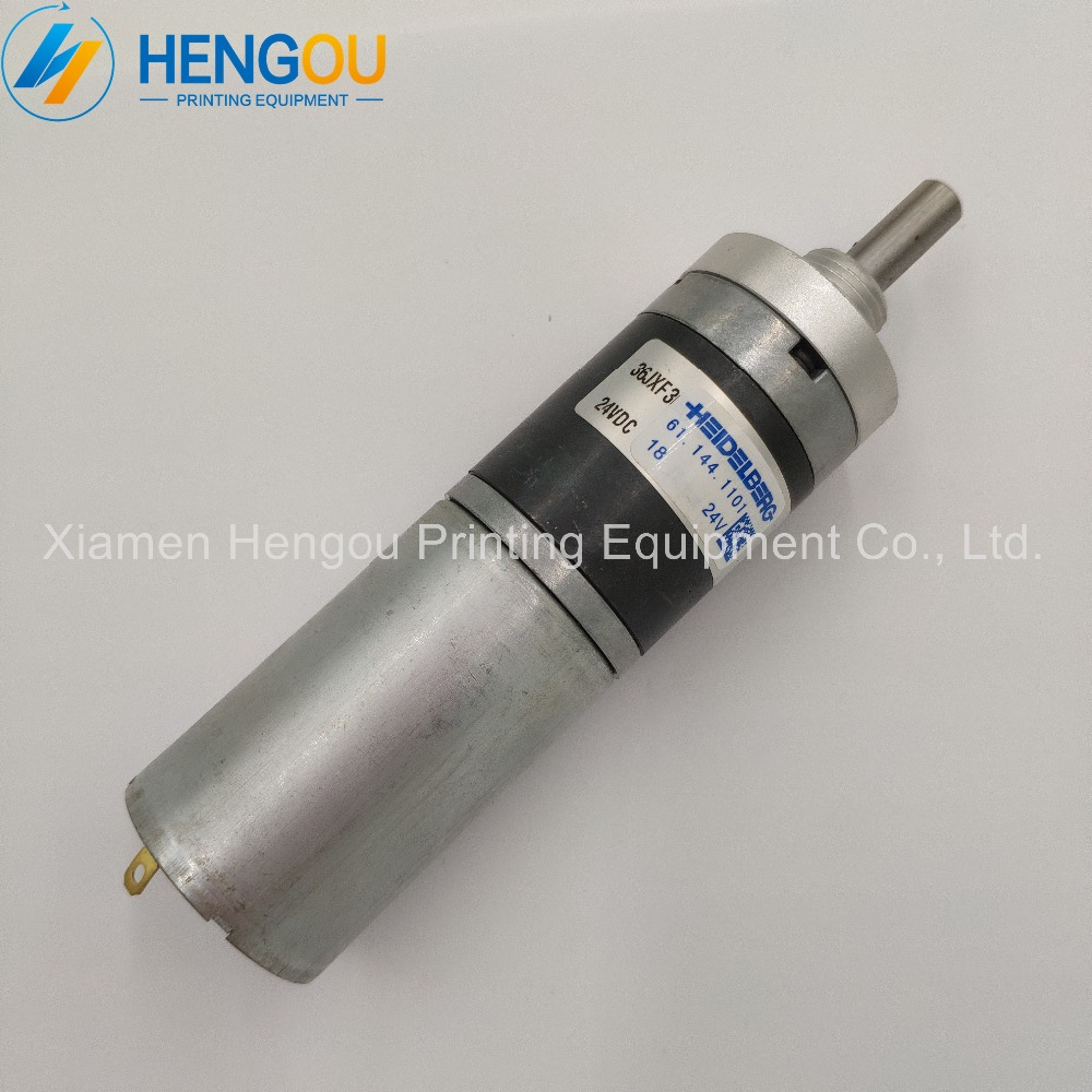 2 Pieces high quality geared motor 61.144.1101 Heidelberg SM102 CD102 CX102 machine motor 24V 61.144.1101/02 2 pieces r2 144 1121 heidelberg machine gear motor compatible new