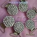 Envío Gratis plata 12 Unids Bling Bling rhinestone crystal accesorios clip de chupete chupete clips Pico de pato hecho a mano