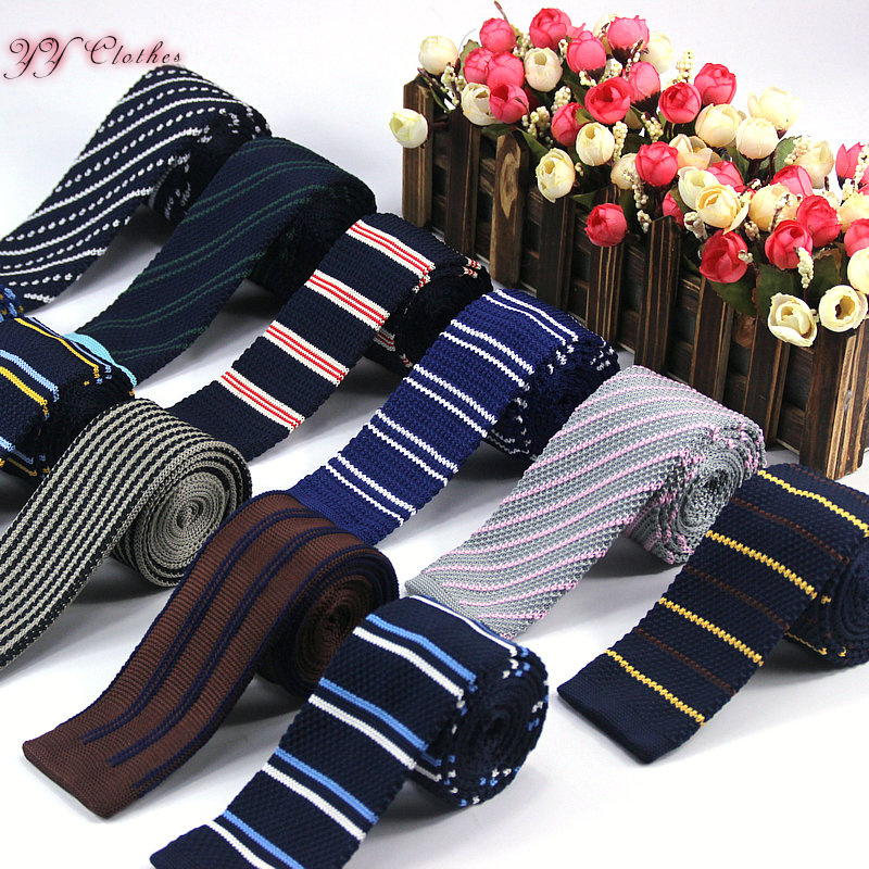 2016 Wholesale Handmade Men Knitting Ties Fashion Casual Men's Formal Wear Business Suit Ties For Wedding Party For Male Necktie