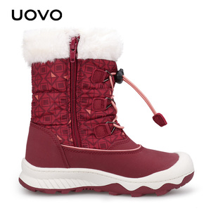 Image 4 - Kids Snow Boots 2020 UOVO New Arrival Winter Boots Children Warm Boots Water Repellent Boys and Girls With Plush Lining #29 38