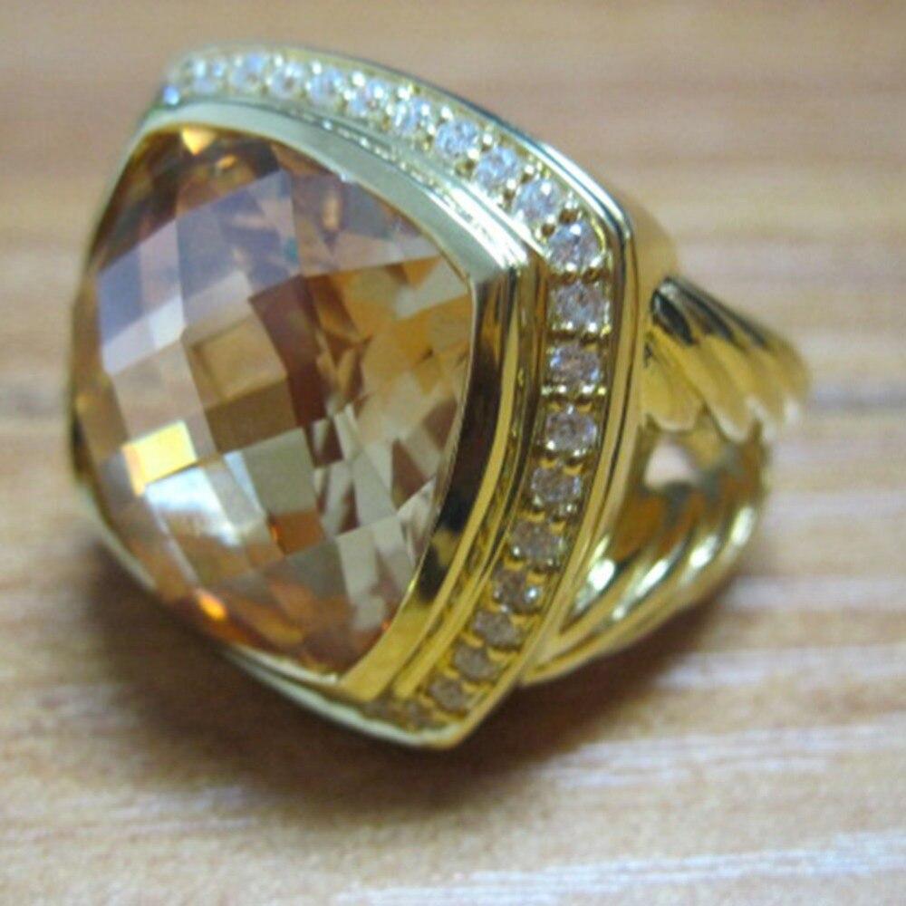 Золото посеребрённые, ювелирные украшения 17 мм, цвет шампанского цитрин Золотое кольцо аметист перламутр 925 Цвет серебристый, Золотой Для ж