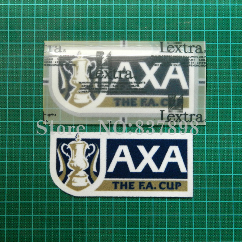 AXA patch Soccer patch badge Cashmere նյութական թավշան