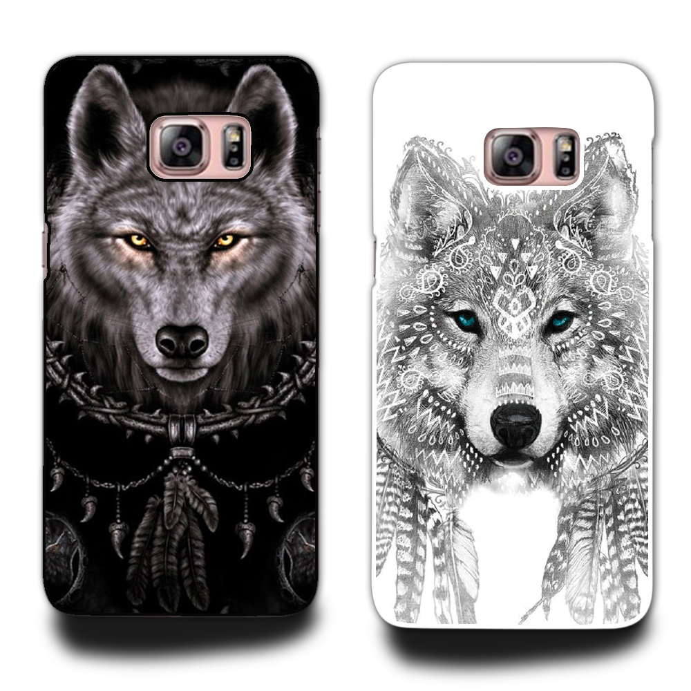 Top Seling Wolf Phone Hard Plastic Case Cover For Samsung Galaxy S3 S4 S5 S6 note 3 4 5