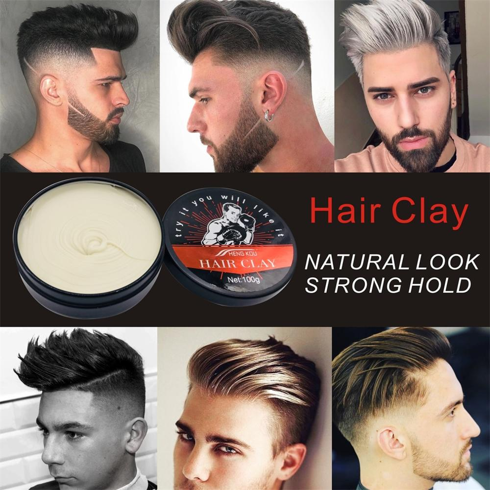 ISAYBEAUTY Strong Hold Hair Clay Long lasting Hair wax Hairstyle ...