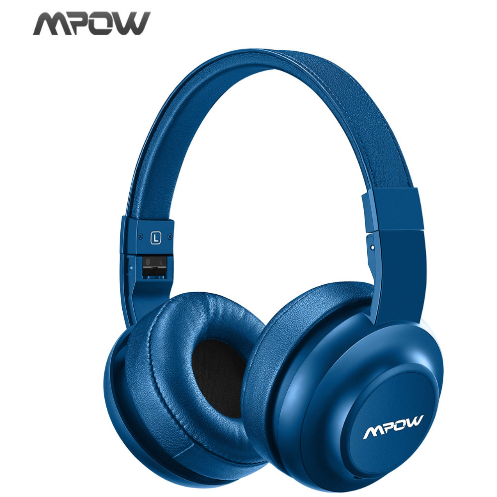 MPOW H2 Bluetooth V4.0 Headphone Wireless Headset Adjustable 4 EQ Sound Modes Headphones For iPhone Samsung Xiaomi Mobile Phone remax 2 in1 mini bluetooth 4 0 headphones usb car charger dock wireless car headset bluetooth earphone for iphone 7 6s android