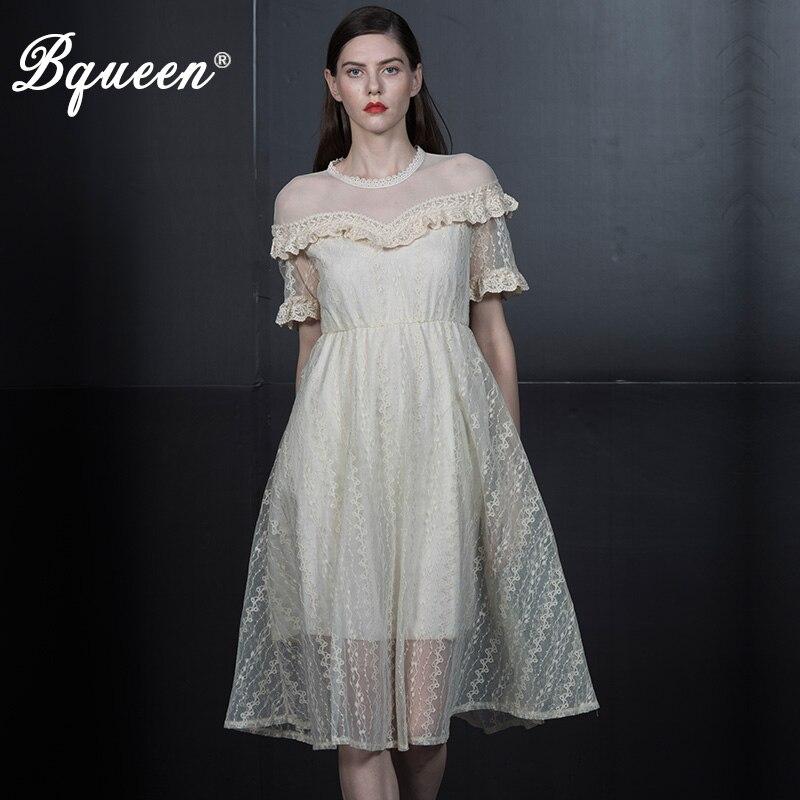Bqueen femmes 2019 maille robe à manches courtes élégant été hors épaule robes de soirée pour dame Prom