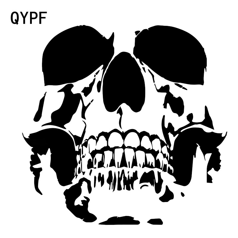 QYPF 15.6*15.2CM Lovely SKULL Car Stickers Vinyl Motorcycle Accessories Decoration C16-0232