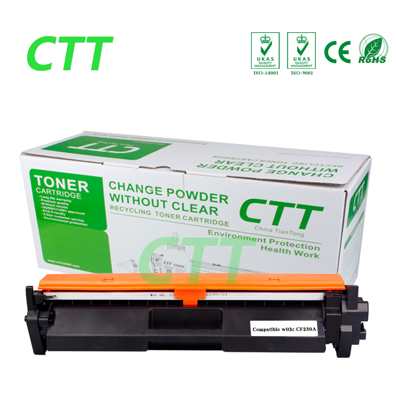 1.6k Black compatible toner cartridge CF230A CF230  230A  for HP LaserJet M203d M203dn M203dw MFP M227fdn M227fdw compatible toner cartridge q6000a q6001a q6002a q6003a for hp laserjet 1600 2600 2605 printer series cm1015 1017 mfp series