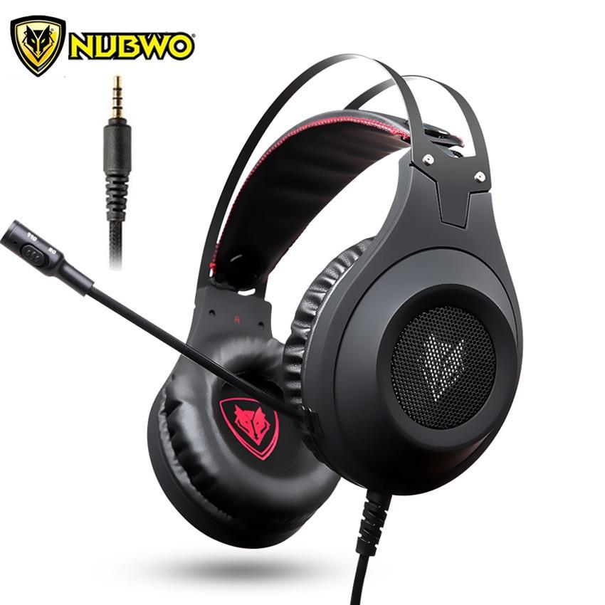 NUBWO N2 Marca Migliori Cuffie Gamer casque Stereo Gaming Headset con  Microfono per PC PS4 2016 Nuova Xbox un Laptop fones 478036f4b43f