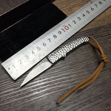 Latest Small Silversmith Damascus Folding Knife Portable Pocket Knife Hand-forged Steel Handle Very Sharp Tactical Hunting Knife