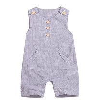 2019 Summer Baby Boy Short Sleeve Cotton Infant Jumpsuit Cartoon Striped Baby Girl Rompers Newborn Baby Rompers Outfits Clothes cheap TELOTUNY Animal O-Neck Pullover Unisex Sleeveless babys Rompers Fits true to size take your normal size Cotton Blend baby rompers newborn Jumpsuit