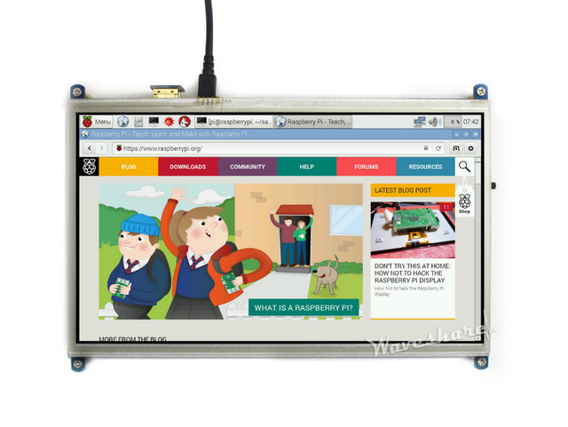 Módulo Waveshare Más Nuevo 10.1 pulgadas LCD HDMI 1024*600 Pantalla Táctil Resistiva para Raspberry Pi Cero/A +/B +//2 B/3 Modelo B