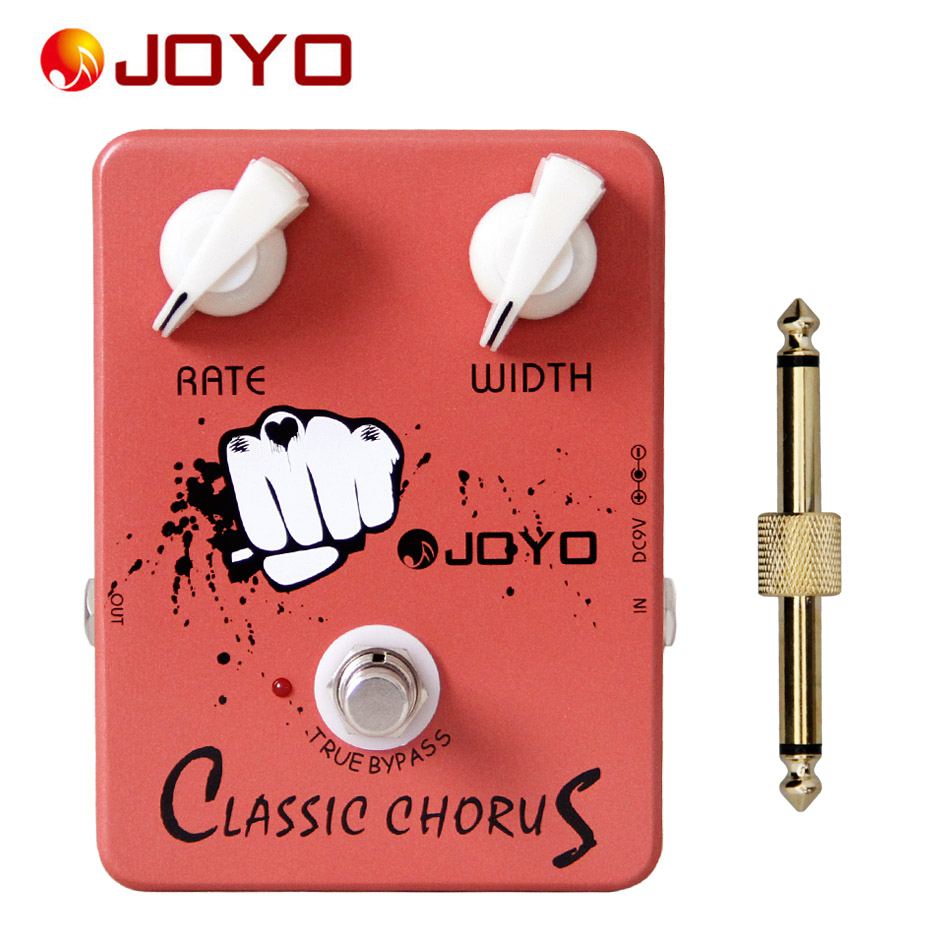 JOYO JF-05 Classic Chorus Electric Guitar Effect Pedal True Bypass + 1 pc pedal connector mooer mini ensemble king electric guitar effect pedal true bypass pure analog chorus sound