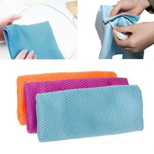 3Pcs Household Glass Car Window Mirror Screen Microfiber Cleaning Cloths Kitchen Absorbent Dishcloth Rags Towels Polishing Cloth
