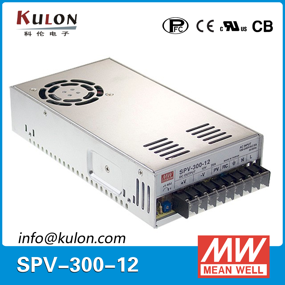 Meanwell SPV-300-12 300W 25A 12V Power Supply with PFC function output voltage programmable цена