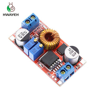 Image 2 - 1Pcs 5A Dc Naar Dc Cc Cv Lithium Batterij Step Down Opladen Board Led Power Converter Lithium Charger Stap down Module Hong