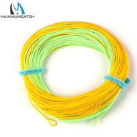 Free Shipping WF6F Double Color Weight Forward Floating Fly Fishing Line WITH WELDED LOOPS 100FT 6WT