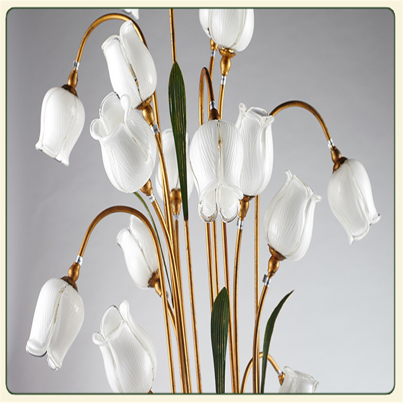 FUMAT Fleurs Lampadaire Intérieur Rétro Verre Art Décor Fleur Lampe Sur Pied  Salon Lumière Chaude Européenne Classique Lampadaire Dans Lampadaires De ...