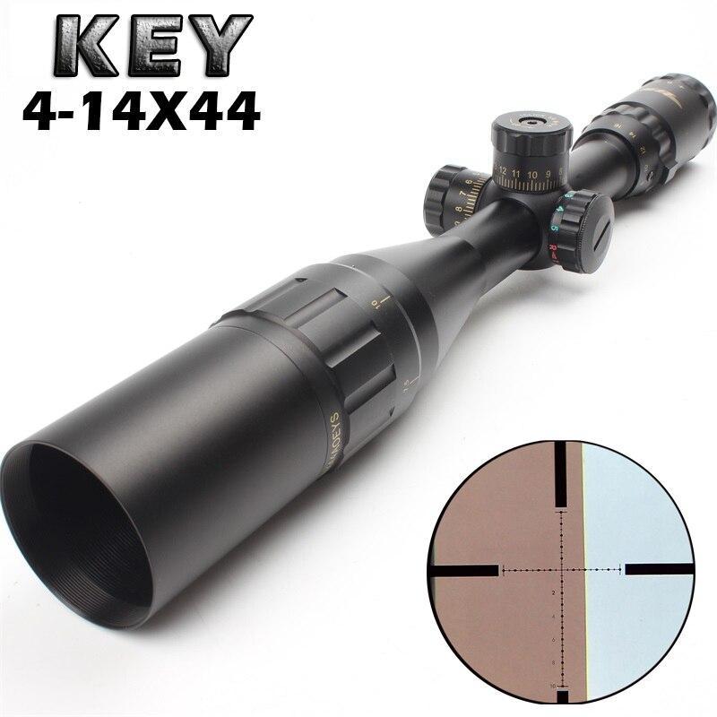 Nouvelle visée clé de visée optique TMD 4-14X44 lunette de visée extérieure chasse optique portée de vue pour airgun airsoft fusil sniper accessoires