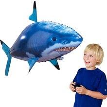 RC воздуха плавательная рыба и игрушечные акулы Drone клоун воздушные шары в виде рыбы Немо надувные с гелием плоскости игрушки вечерние для детей Рождественский подарок