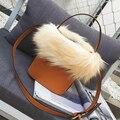 Top-Handle Sacos Simples Moda Pu Saco das senhoras de couro Das Mulheres sacola De Pele de Alta Qualidade Pequeno Balde bolsa de ombro Crossbody sacos de Sac