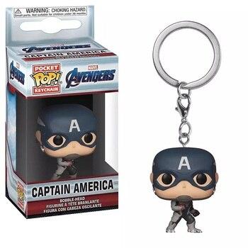 Поп виниловая карманная кукла брелок Marvel Мстители 4 финал Капитан Америка Черная Вдова DC чудо-женщина фигурка игрушка рождественские подарки
