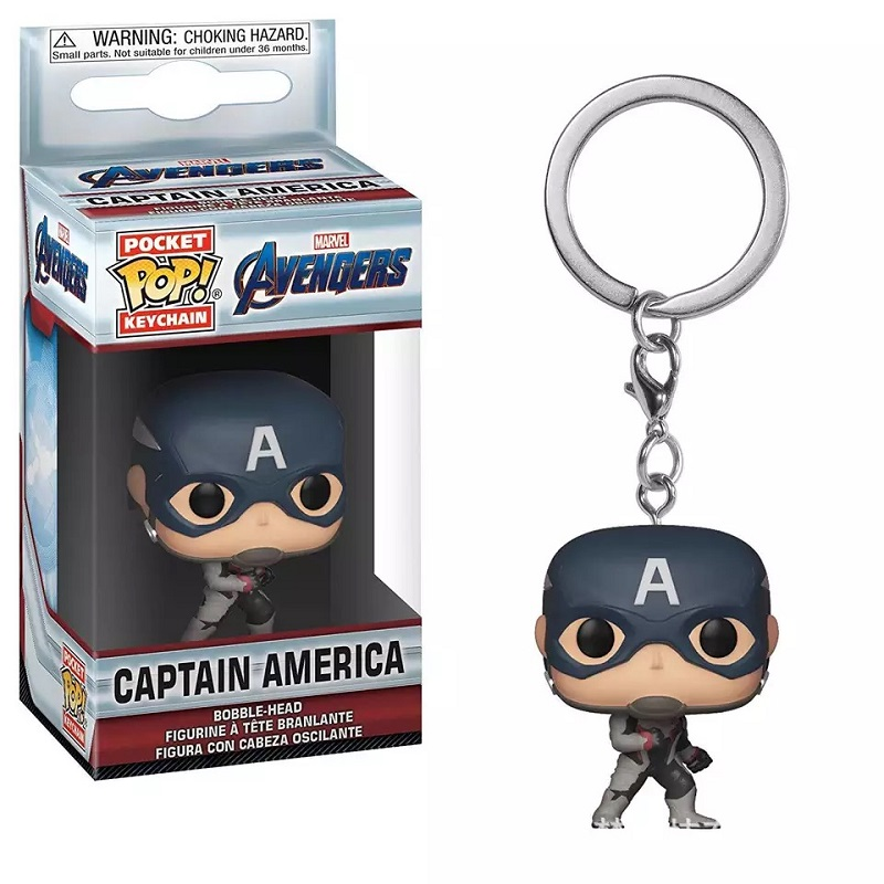 Pop vinil bolso boneca chaveiro marvel avengers 4 endgame capitão américa viúva negra dc maravilha mulher figura brinquedo presentes de natal