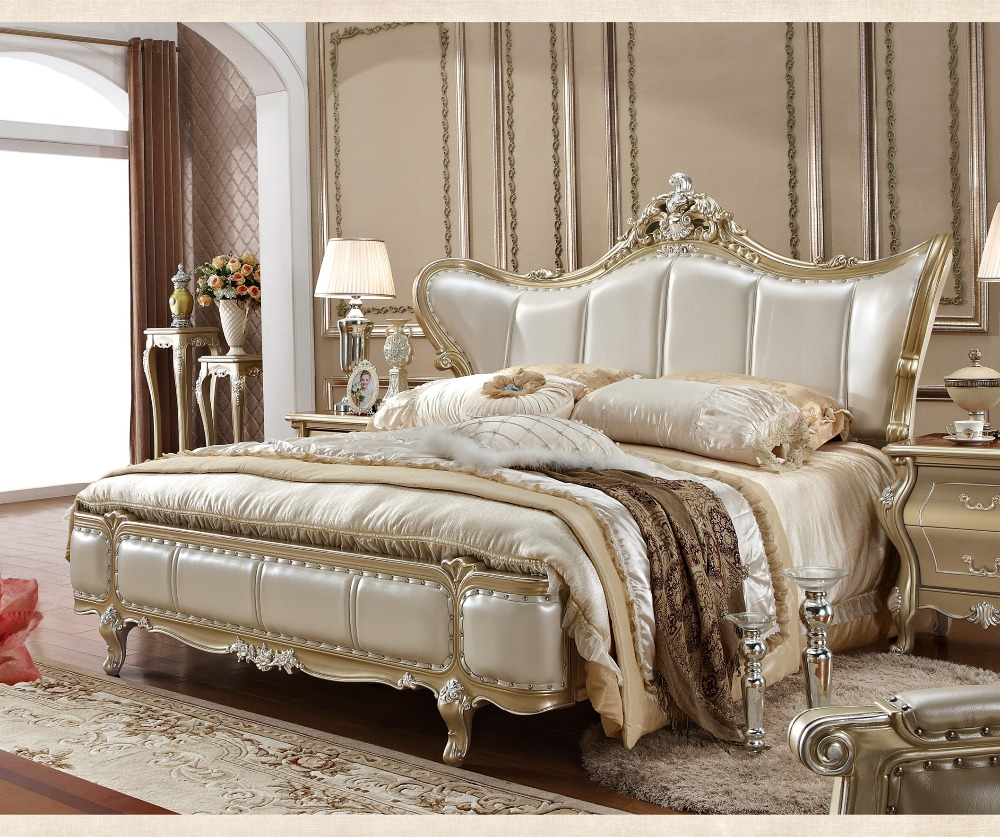 Luxury Bedroom Furniture Stores: Luxury Antique Design King/Queen Size Bedroom Furniture-in