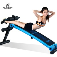 ALBREDA Foldable Supine Board Sit Up Abdominal Bench fitness Board Fitness abdominal Exerciser Equipments Training muscles
