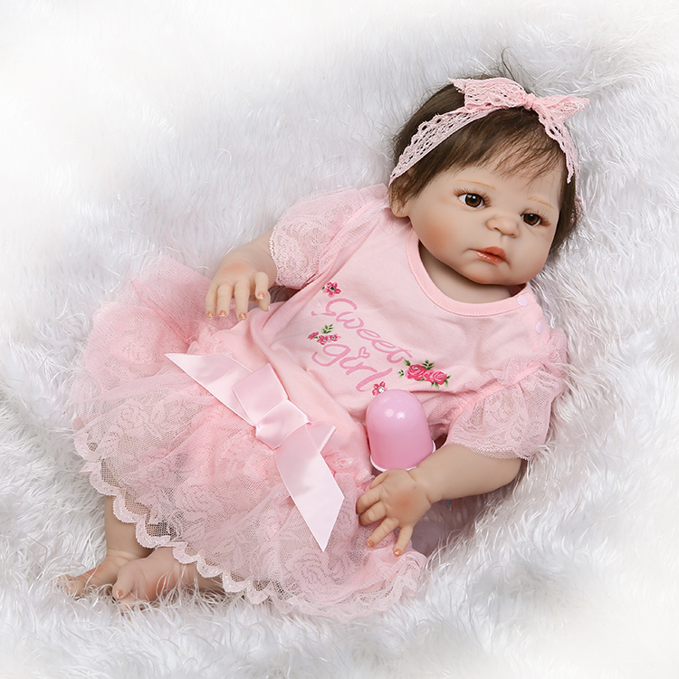 NPKCOLLECTION lifelike full vinyl baby doll with real girl gender beautiful doll for children on Children's day and Christmas