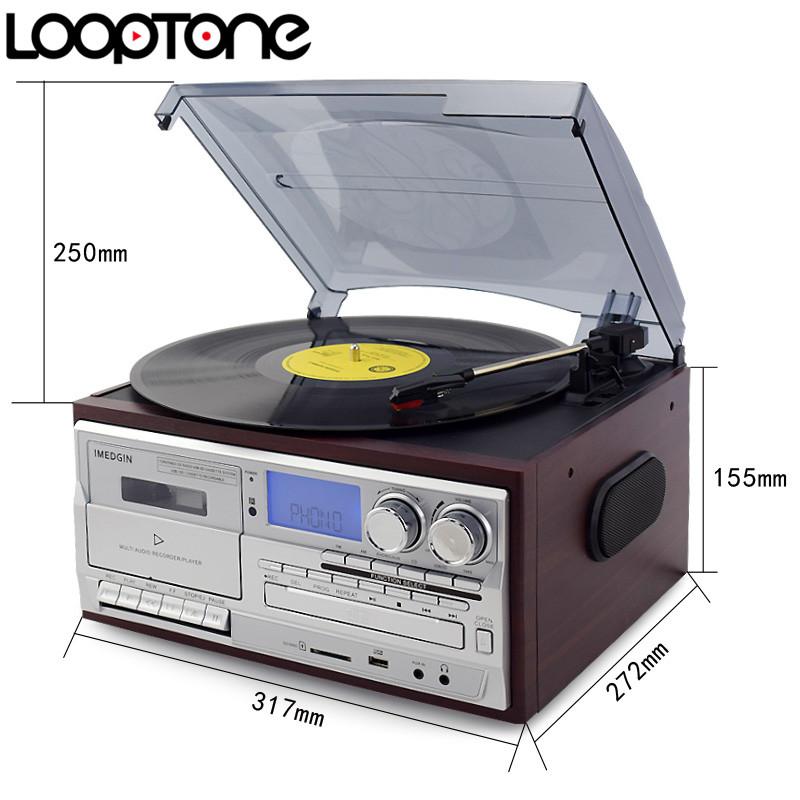 LoopTone 3 х скоростной Bluetooth виниловый проигрыватель фото