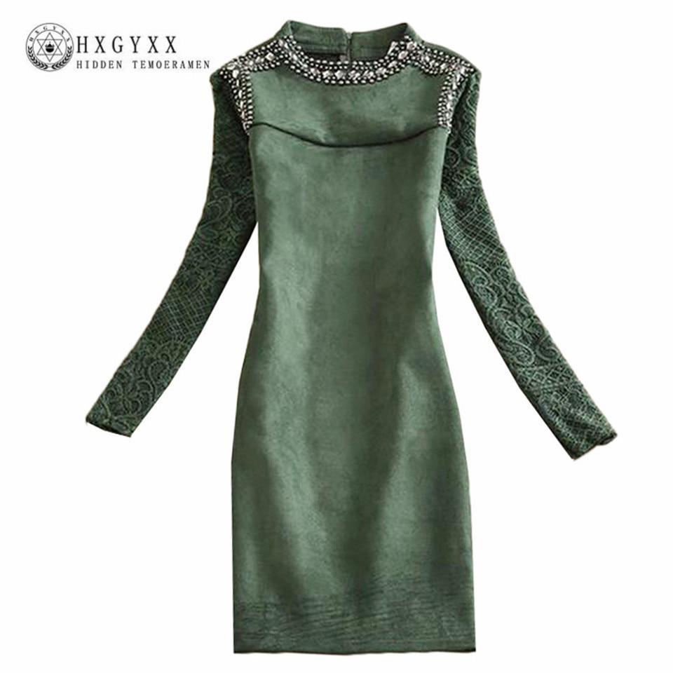 Платье винтаж длинный рукав
