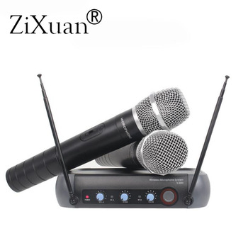 Professional V900 wireless microphone 2 channels mixing function KTV wireless microphone home  for Karaoke System microphone