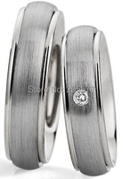 2014 European style custom his and hers wedding bands couple rings health titanium rings sets