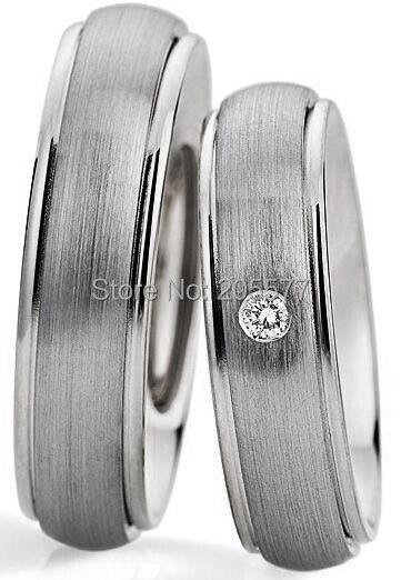 2014 style européen personnalisé ses et ses bandes de mariage couple anneaux santé titane anneaux ensembles