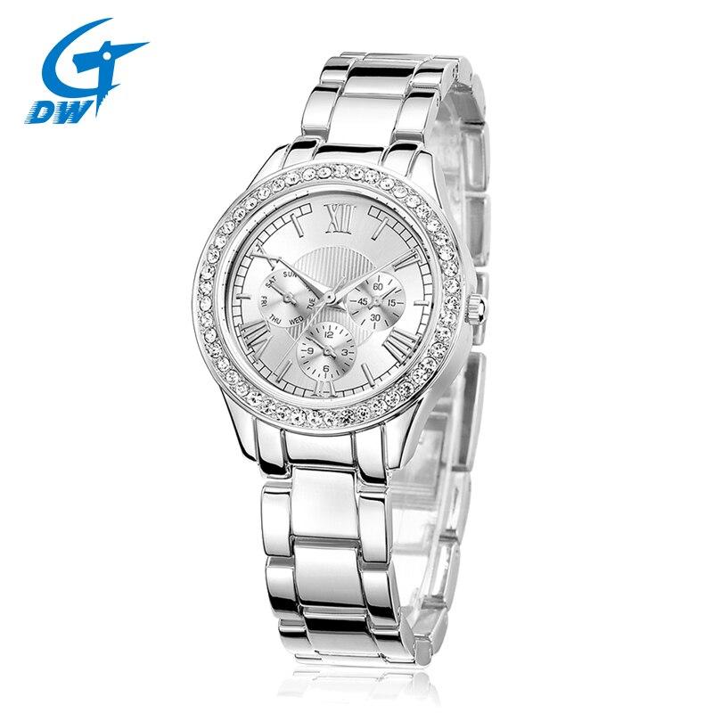 DWG Adjustable Casual Gold Bracelet Watch Women Rhinestone Watches Women Elegant Quartz Wrist Watch Relojes Mujer