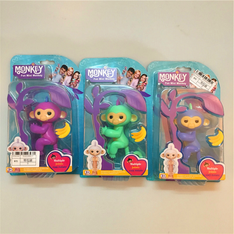 4 Color Finger Baby Monkeys Colorful Fingers Toys Best Gifts For Kids 2017 Finger Monkey creative dump monkey falling toy tumbling monkeys party