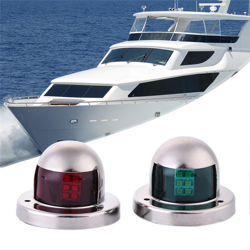 Us 11 3 27 Off Kaigelin 2pcs12v Green And Red Marine Boat Yacht Led Warning Light Waterproof Stainless Steel Bow Navigation Indicator Lights In
