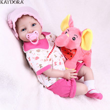KAYDORA Silicone Reborn Baby Dolls 22 Inch 55cm Adorable Lifelike Real Dolls Bebe Realistic Kids Bebe Reborn Girl Doll kaydora 22 inch 55cm full vinyl silicone reborn baby dolls lifelike real dolls realistic princess girl reborn babies toys gift