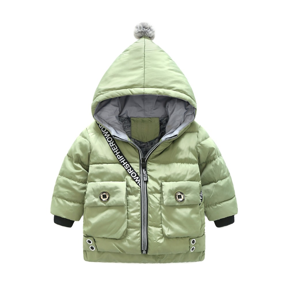 2017 New Style Baby Girls/Boys Cute Hooded Cotton-padded Clothes Kids Zipper Solid Cartoon Down/Parkas Children Jacket/Outerwear children winter coats jacket baby boys warm outerwear thickening outdoors kids snow proof coat parkas cotton padded clothes