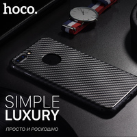 HOCO For IPhone 7 7 Plus Dirt Resistant Soft TPU Case For Apple Phone With Carbon
