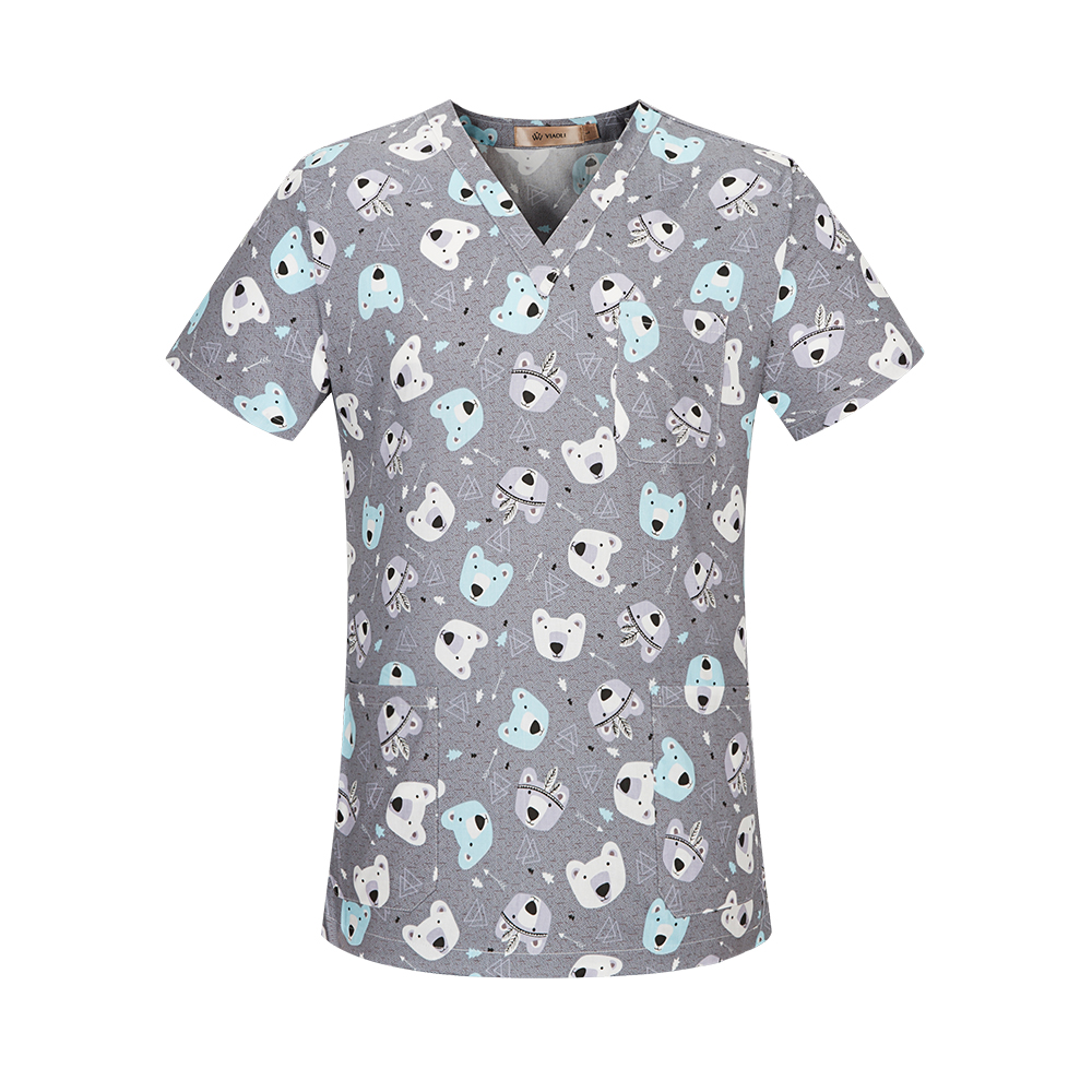 Nurse Uniform Women and Men Comfortable 100%Cotton Nursing Scrub Clothes Dentistry Pet Hospital Clinic Uniform medical supplies