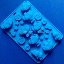 1 шт. стиль Lilo& Stitch(HY1-195) зеленый хорошего качества-й силикон для пищевых продуктов Шоколад/желе/пудинг/лед/Конфеты DIY Плесень