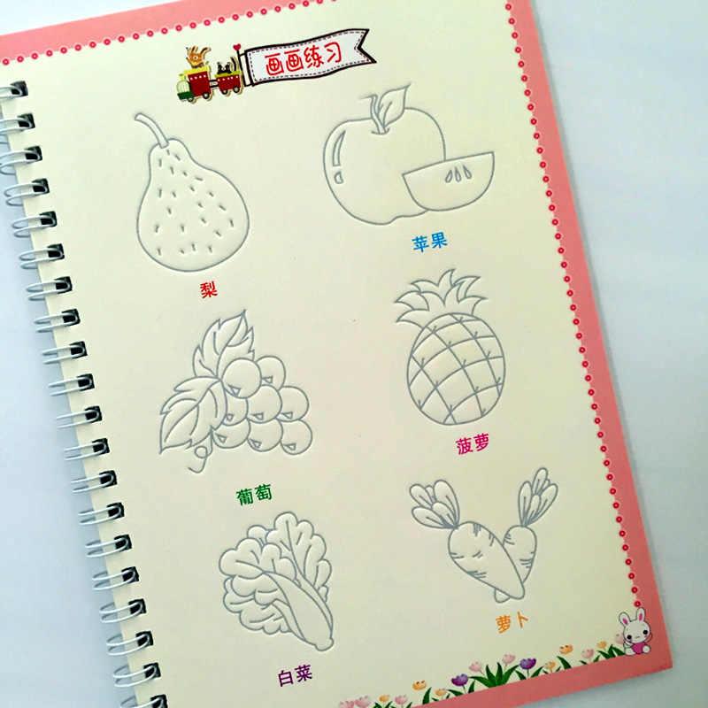 Nuevo Libro De Dibujo De Animales Frutas Verduras Plantas De