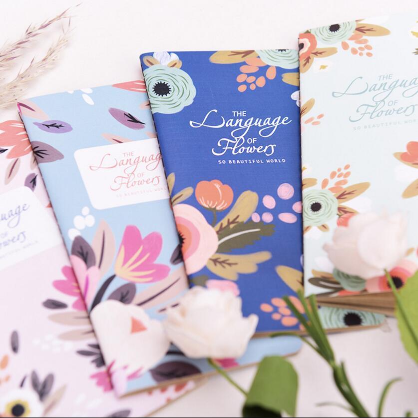 1db Kawaii Vintage notebook nátronpapír 48K Virágkönyv Mini hordozható napló Irodaszerek Irodaszerek Iskolai felszerelések 6193