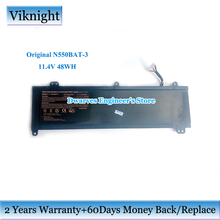 цена на Genuine N550BAT-3 Battery 6-87-N550S-4E43 11.4V 48Wh Li-ion Battery for Clevo Aftershock M15 V2 N550RC F57 D1 D2 laptop battery