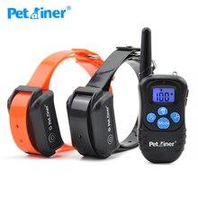 Petainer 998DBB 2 obroża paraliżująca dla psa 300M kontrola wodoodporna i akumulatorowa obroża elektryczna dla 2 psów