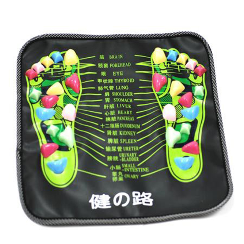 Relief Walk Massager Reflexology Walk Stone Foot Legs Pain Relief Mat Acupressure Mat Pad Massager Health Care hthl chinese health care colored plastic walk stone square healthy foot massage mat pad cushion
